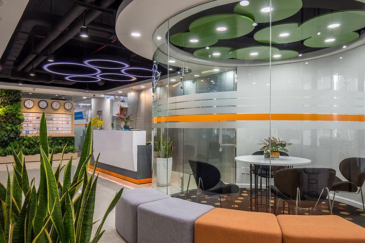 Sảnh tiếp khách cho khách hàng sử dụng dịch vụ văn phòng ảo tại GOffice