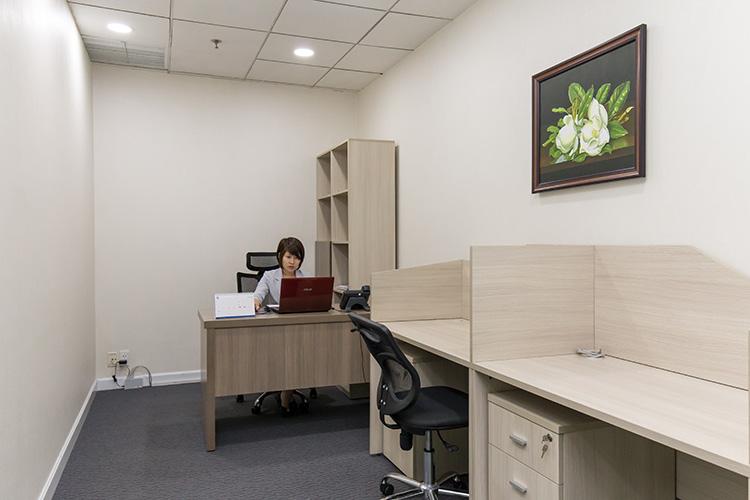 Nội thất bên trong của văn phòng chia sẻ cho thuê tại GOffice